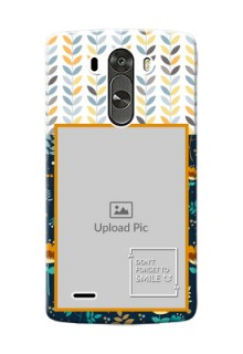 LG G3 seamless and floral pattern design with smile quote Design