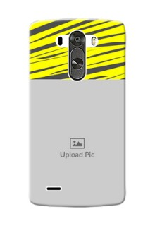LG G3 yellow abstract stripes Design