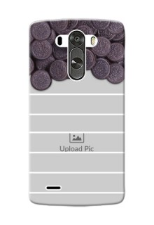 LG G3 oreo biscuit pattern with white stripes Design Design
