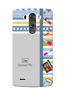 LG G3 hand drawn backdrop with makeup icons Design