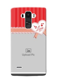 LG G4 Stylus Red Pattern Mobile Cover Design