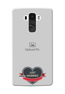 LG G4 Stylus Just Married Mobile Cover Design