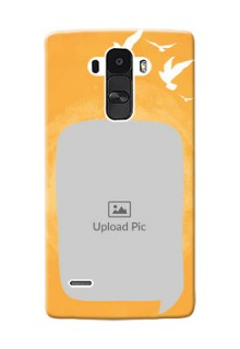 LG G4 Stylus watercolour design with bird icons and sample text Design Design