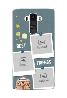 LG G4 Stylus 3 image holder with sticky frames and friendship day wishes Design