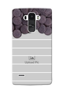 LG G4 Stylus oreo biscuit pattern with white stripes Design Design