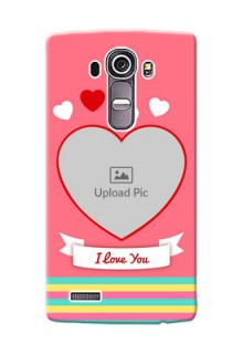 LG G4 I Love You Mobile Cover Design