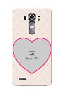 LG G4 Love Symbol Picture Upload Mobile Case Design