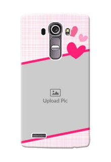 LG G4 Pink Design With Pattern Mobile Cover Design