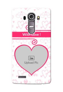 LG G4 Pink Colour Mobile Case Design