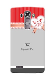 LG G4 Red Pattern Mobile Cover Design