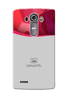 LG G4 Red Abstract Mobile Case Design