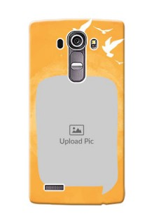 LG G4 watercolour design with bird icons and sample text Design Design