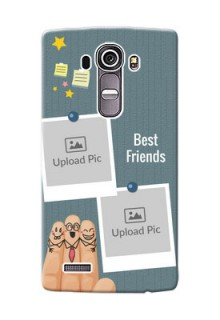 LG G4 3 image holder with sticky frames and friendship day wishes Design