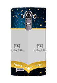 LG G4 2 image holder with galaxy backdrop and stars  Design