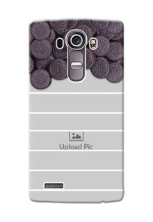 LG G4 oreo biscuit pattern with white stripes Design Design