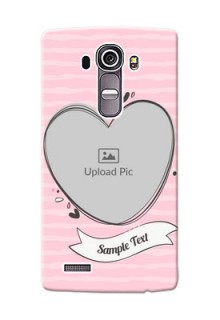 LG G4 seamless stripes with vintage heart shape Design