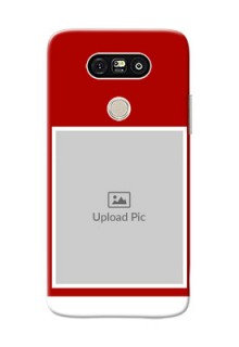 LG G5 Simple Red Colour Mobile Cover  Design