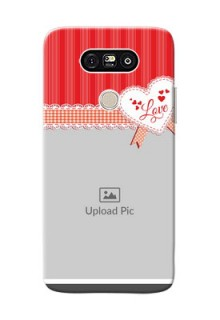LG G5 Red Pattern Mobile Cover Design
