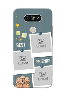 LG G5 3 image holder with sticky frames and friendship day wishes Design