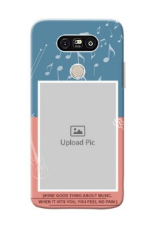 LG G5 2 colour backdrop with music theme Design
