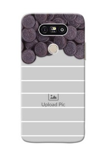 LG G5 oreo biscuit pattern with white stripes Design Design