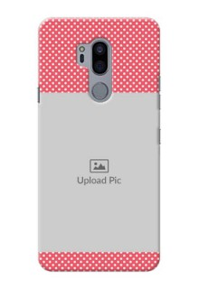 LG G7 Plus Custom Mobile Case with White Dotted Design