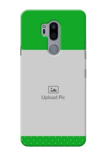 LG G7 Plus Personalised mobile covers: Green Pattern Design