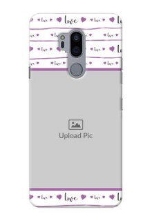 LG G7 Plus Mobile Back Covers: Couples Heart Design