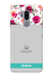 LG G7 Plus Personalized Mobile Cases: Watercolor Floral Design