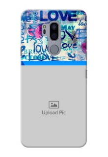 LG G7 Thinq Mobile Covers Online: Colorful Love Design