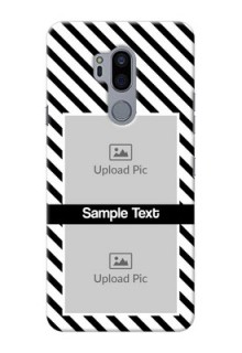 LG G7 Thinq Back Covers: Black And White Stripes Design