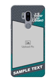 LG G7 Thinq Back Covers: Background Pattern Design with Quote