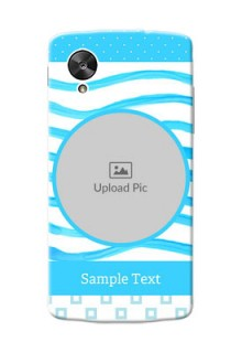 LG Nexus 5 Simple Blue Design Mobile Case Design
