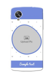 LG Nexus 5 Simple Blue Colour Mobile Case Design