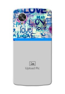 LG Nexus 5 Colourful Love Patterns Mobile Case Design
