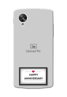 LG Nexus 5 Happy Anniversary Mobile Cover Design