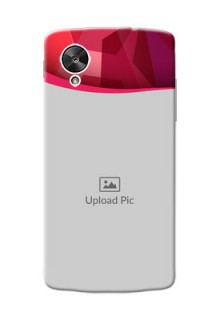 LG Nexus 5 Red Abstract Mobile Case Design