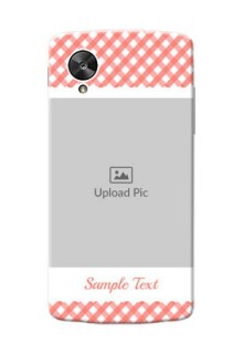 LG Nexus 5 Pink Pattern Mobile Case Design