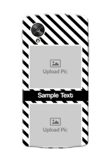 LG Nexus 5 2 image holder with black and white stripes Design