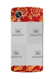 LG Nexus 5 4 image holder with mandala traditional background Design