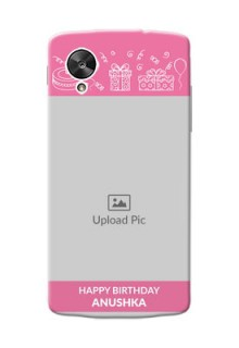 LG Nexus 5 plain birthday line arts Design
