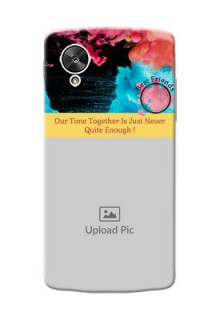 LG Nexus 5 best friends quote with acrylic painting Design