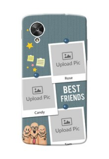 LG Nexus 5 3 image holder with sticky frames and friendship day wishes Design