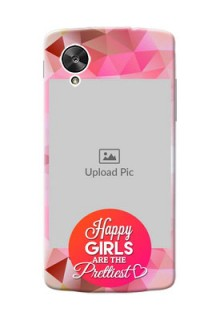 LG Nexus 5 abstract traingle design with girls quote Design
