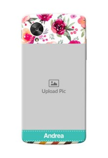 LG Nexus 5 watercolour floral design with retro lines pattern Design