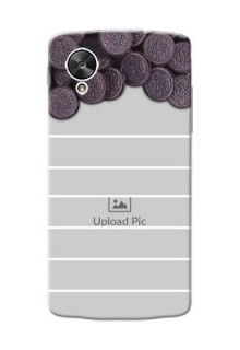 LG Nexus 5 oreo biscuit pattern with white stripes Design Design