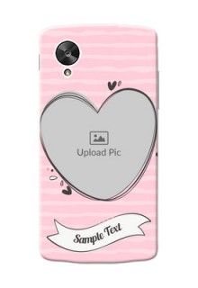 LG Nexus 5 seamless stripes with vintage heart shape Design