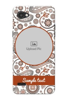 LG Q6 Plus Floral Abstract Mobile Case Design