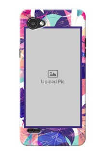 LG Q6 Plus abstract floral Design
