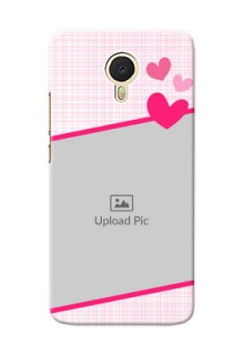 Meizu M3 Note Pink Design With Pattern Mobile Cover Design